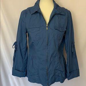 CAbi Blue Cargo Lightweight Cotton Jacket M